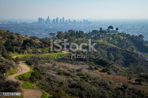 istock Griffith Observatory from Mount Hollywood Trail 1222162363