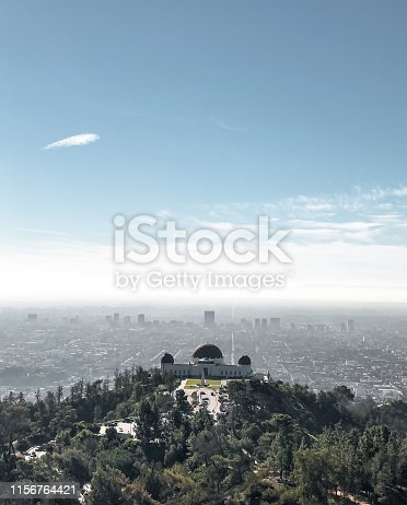 A stunning view of the Griffith Observatory with the city of L.A in the Background