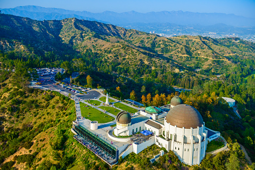 Griffith Observatory Mount Hollywood Los Angeles Ca Aerial View Stock Photo - Download Image Now