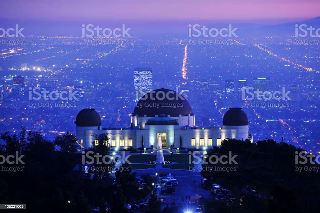 Griffith Park Observatory Los Angeles California Tourist Attraction stock photo