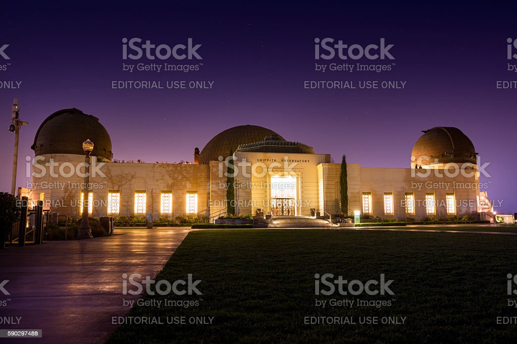 Griffith Park Observatory Los Angeles royaltyfri bildbanksbilder