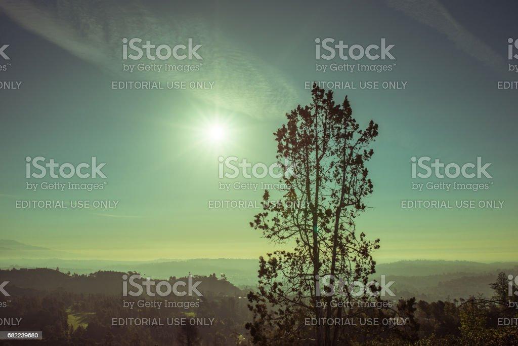 Griffith Park Sunrise stock photo