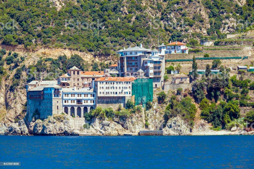 Grigoriou Monastery, Mount Athos stock photo