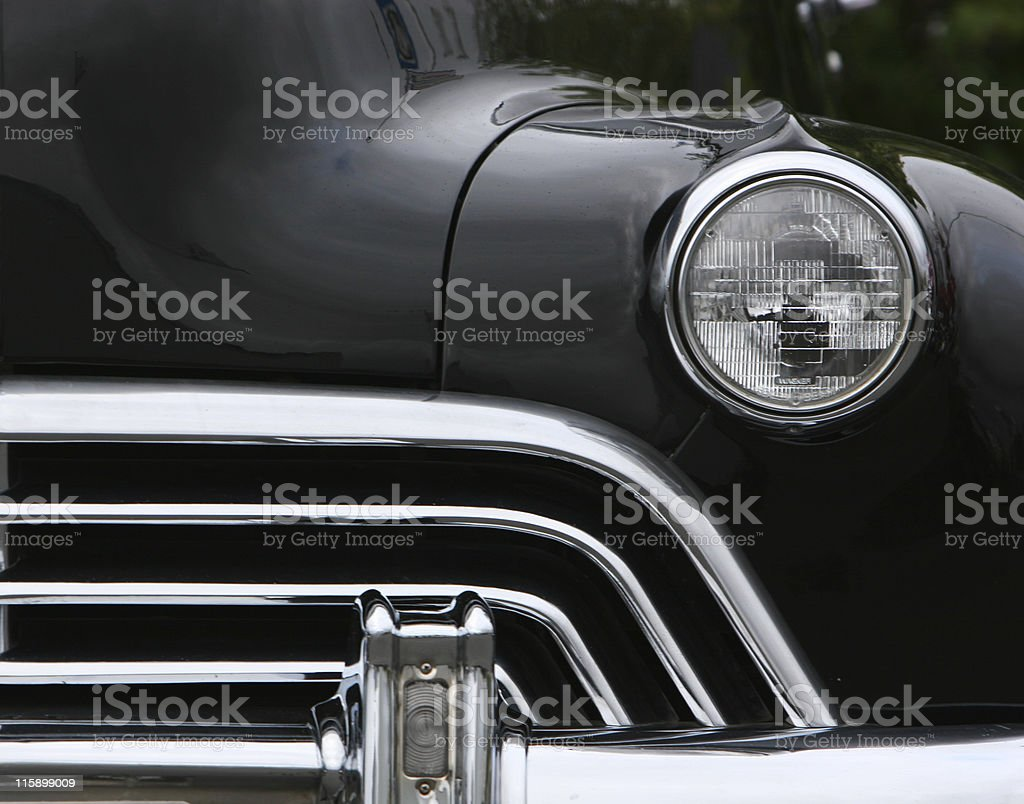 grill and headlights royalty-free stock photo