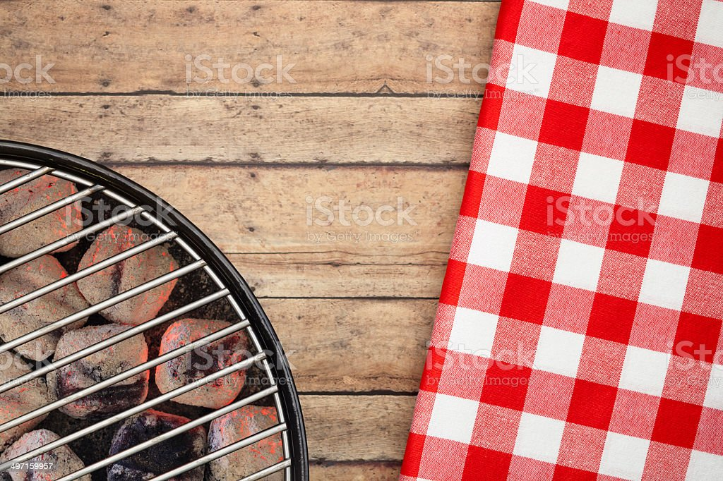 BBQ Grill and Table stock photo