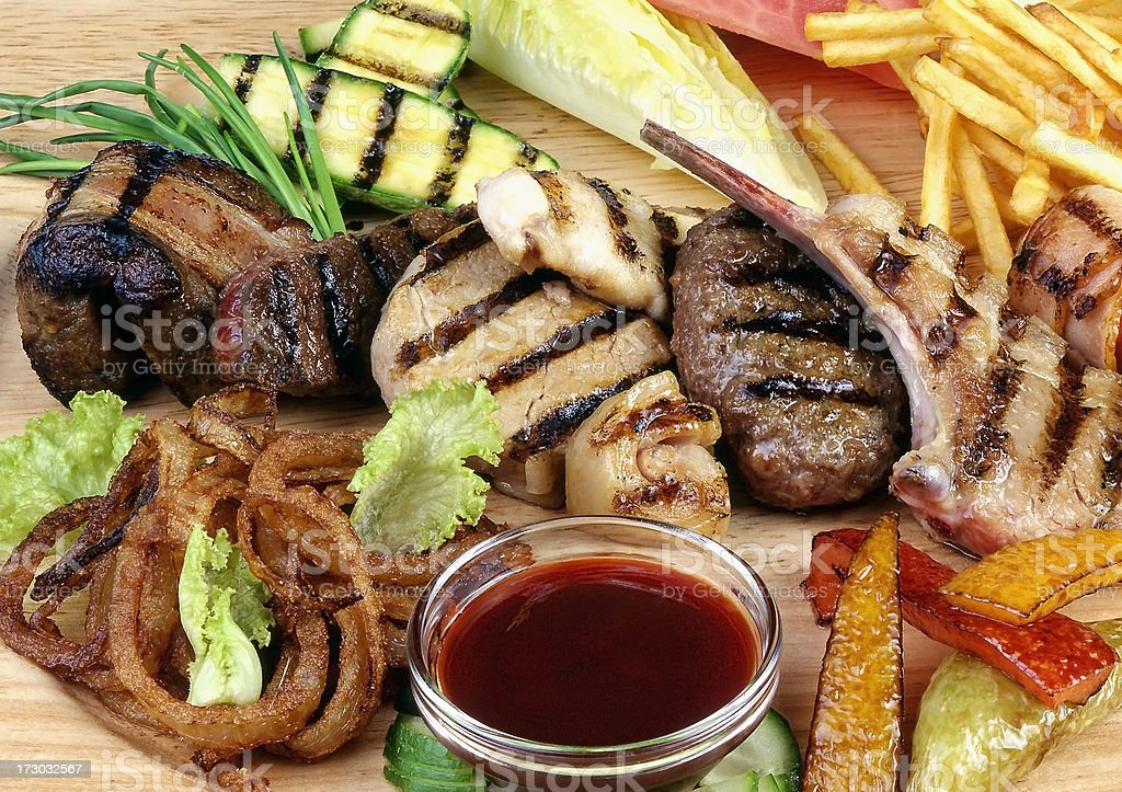 Grill assortment royalty-free stock photo