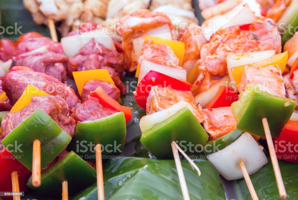 Grill cooking vegetable. stock photo