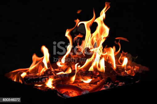istock Grill flame 830546072