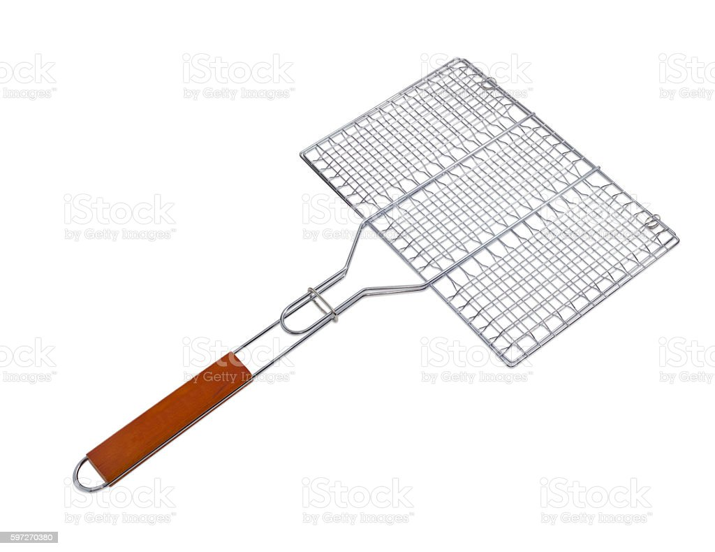 Grill grates on a light background royalty-free stock photo