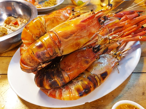 Grill Lobsters Stock Photo - Download Image Now