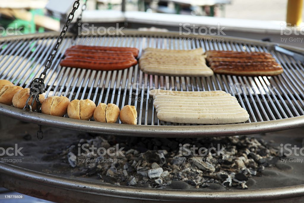 Grill Station royalty-free stock photo