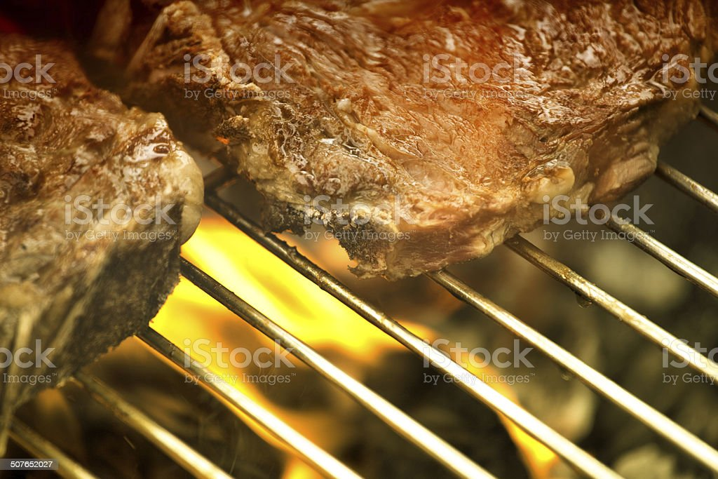 Grill the steak royalty-free stock photo