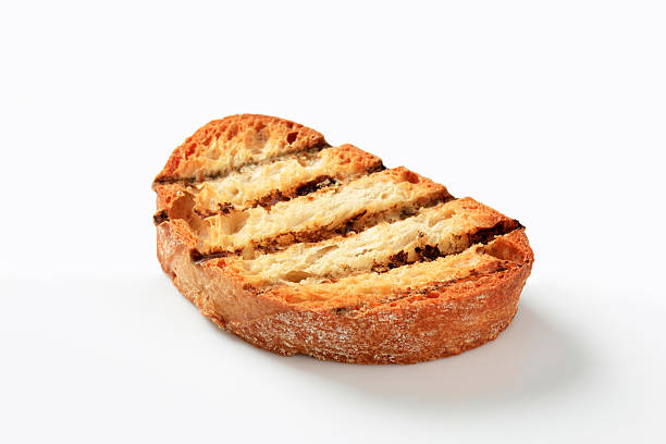 Grill toasted bread stock photo
