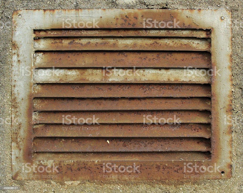 Grille d'aération industrielle stock photo