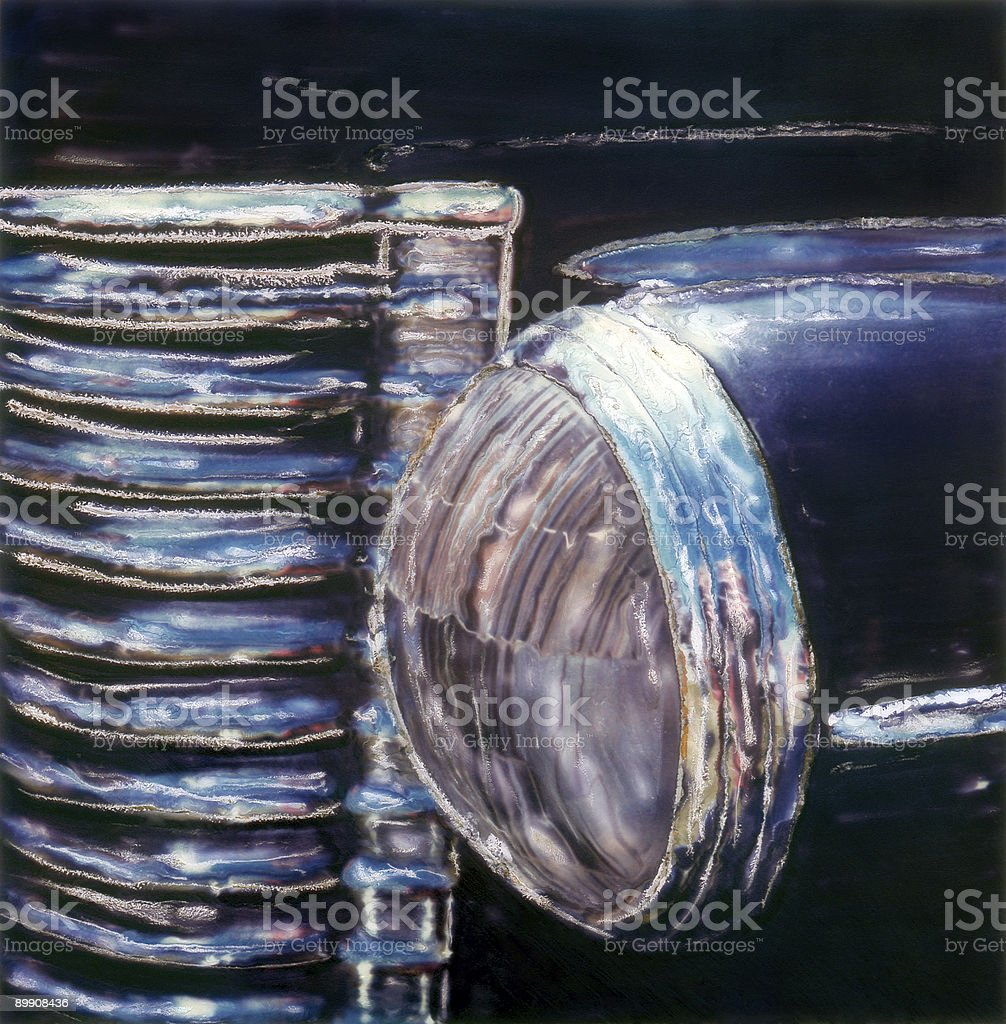 Grille & Light Detail royalty-free stock photo