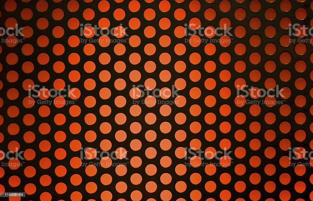 Grille over orange light royalty-free stock photo