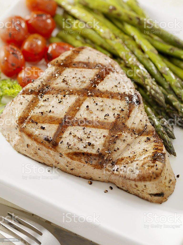 Grilled Ahi Tuna Steak stock photo