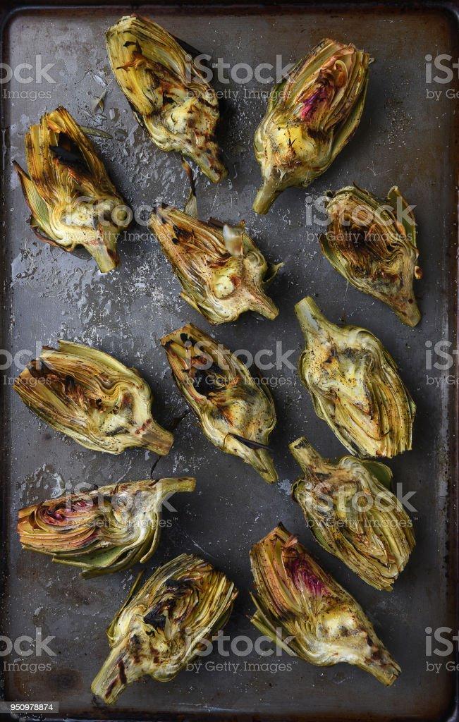 Grilled Artichokes - foto stock