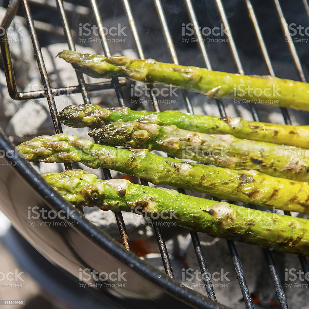 Grilled asparagus royalty-free stock photo