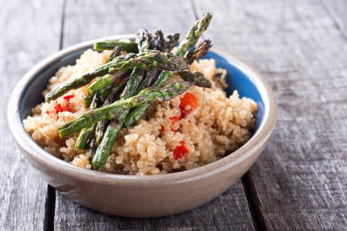 Grilled Asparagus Quinoa