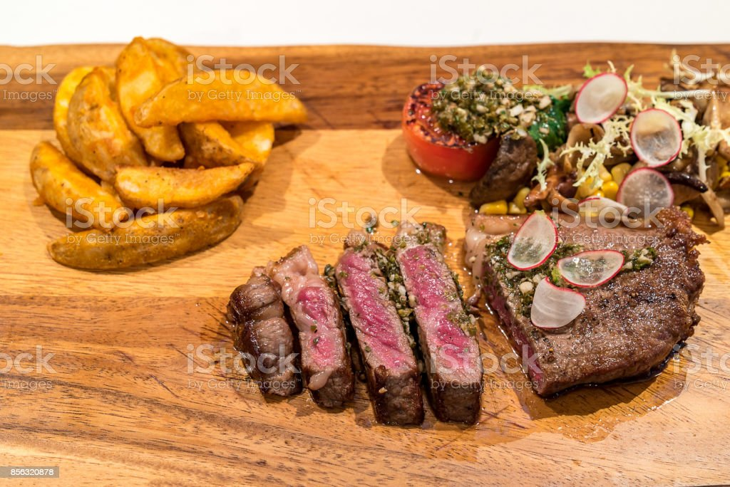 Grilled Australian Wagyu Beef Stock Photo & More Pictures of