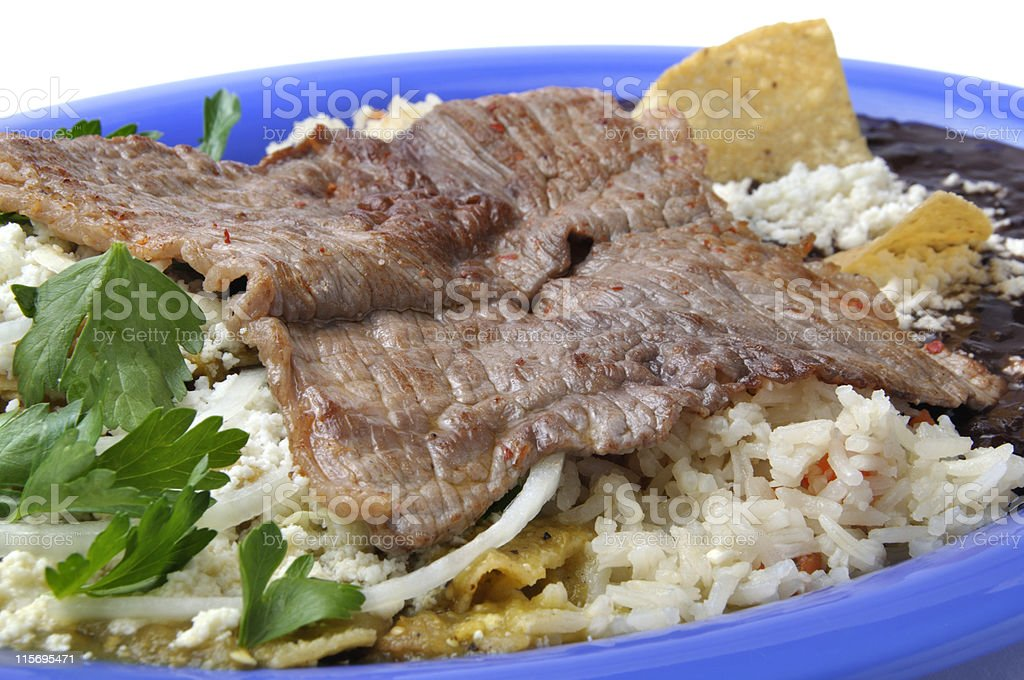 Grilled beef 'carne asada' royalty-free stock photo