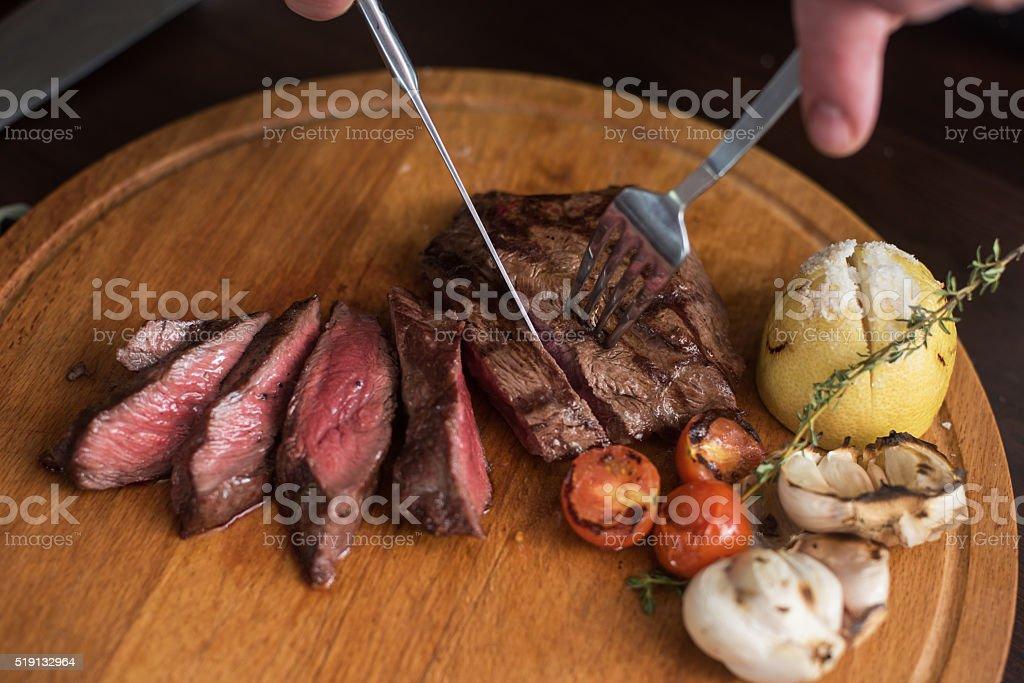 Gegrilltes Rindfleisch steak – Foto