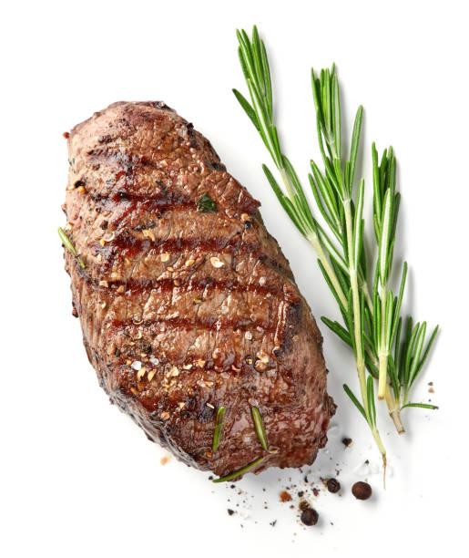 gegrilde biefstuk - sirloin stockfoto's en -beelden