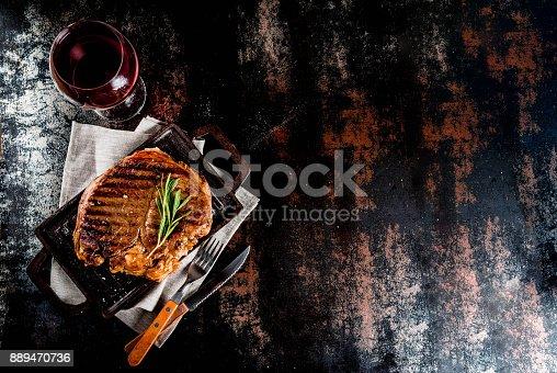 808351132istockphoto Grilled beef steak 889470736