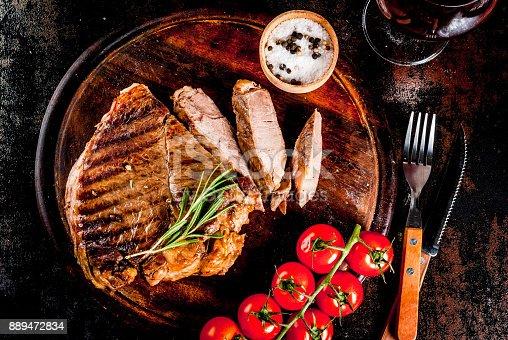 808351132istockphoto Grilled beef steak 889472834