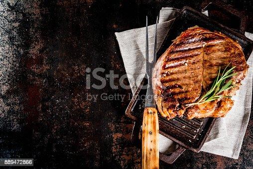 808351132istockphoto Grilled beef steak 889472866
