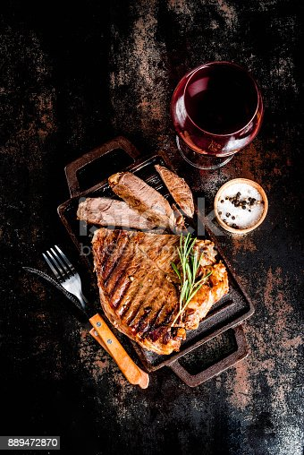 808351132 istock photo Grilled beef steak 889472870
