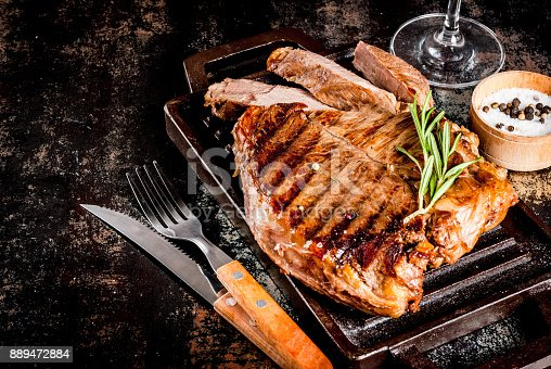 808351132 istock photo Grilled beef steak 889472884