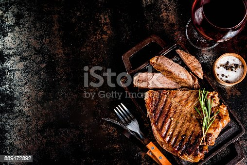 808351132 istock photo Grilled beef steak 889472892