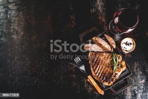 808351132 istock photo Grilled beef steak 889472926
