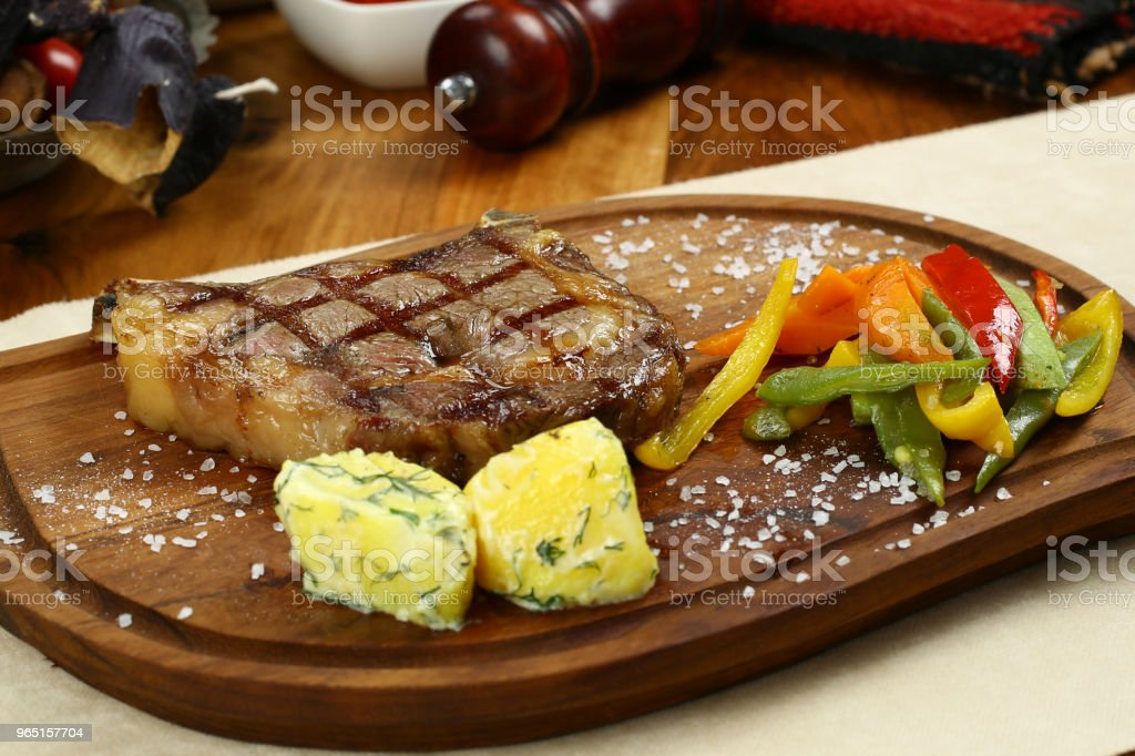 Grilled beef steak royalty-free stock photo