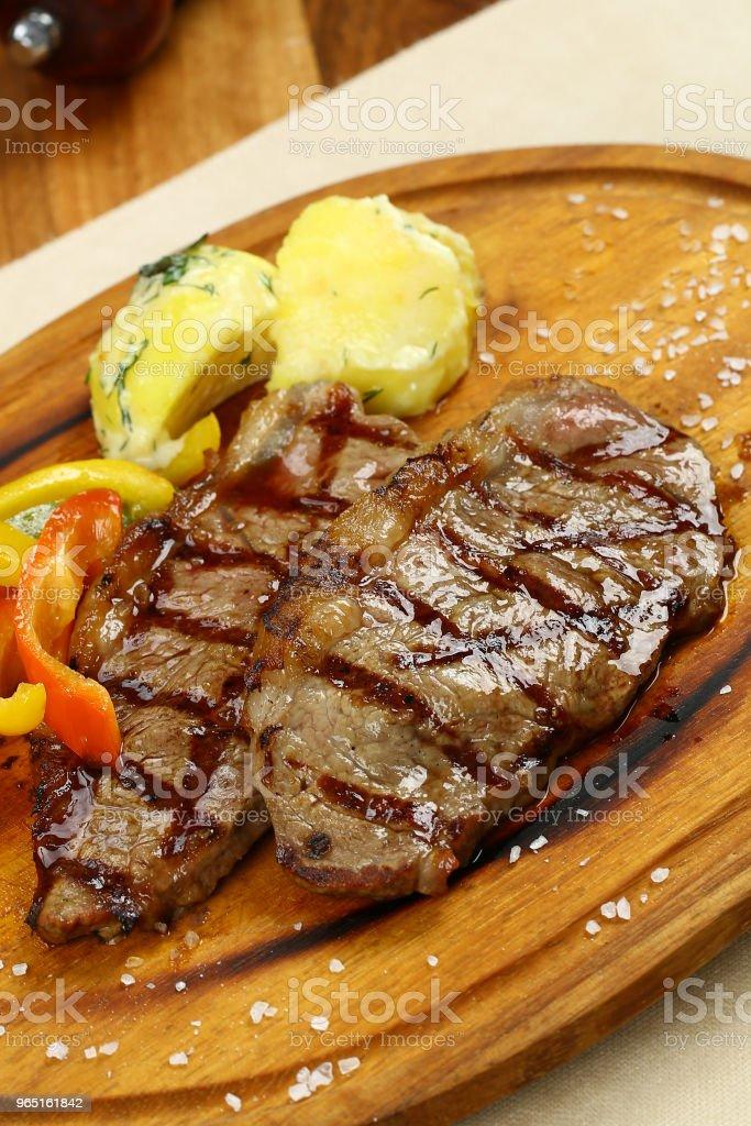 Grilled beef steak zbiór zdjęć royalty-free
