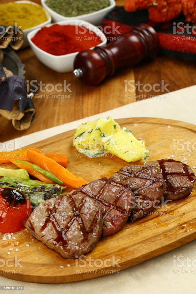 Grilled beef steak zbiór zdjęć royalty-free