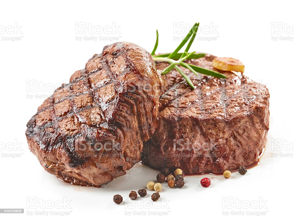 grilled beef steaks – Foto
