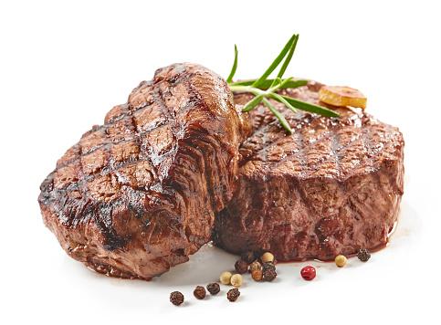 Grilled Beef Steaks Stockfoto en meer beelden van Avondmaaltijd