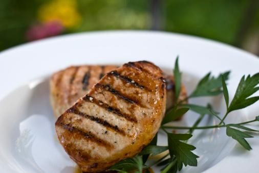 summer grilled pork chops