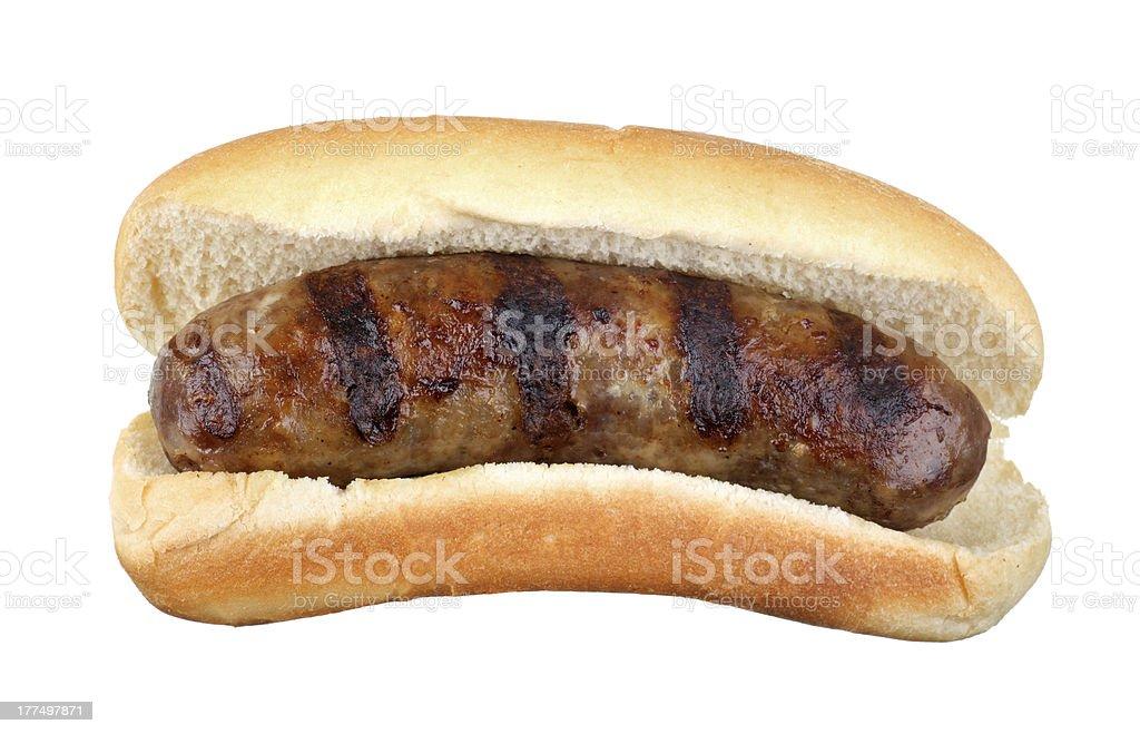 Grilled Bratwurst Isolated bildbanksfoto