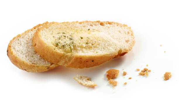 grilled bread slices - pangrattato preparazione degli alimenti foto e immagini stock