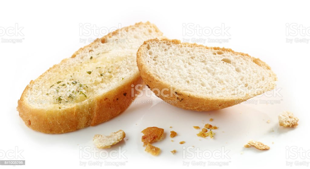 grilled bread slices stock photo