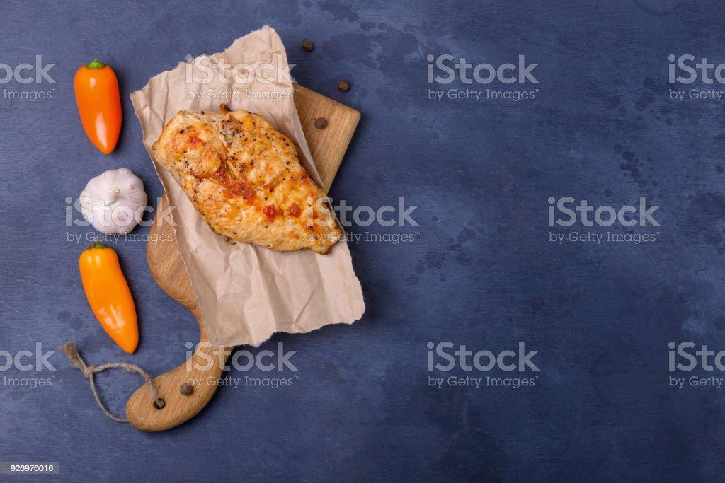 Breas grillé poulet avec du poivre et l'ail - Photo