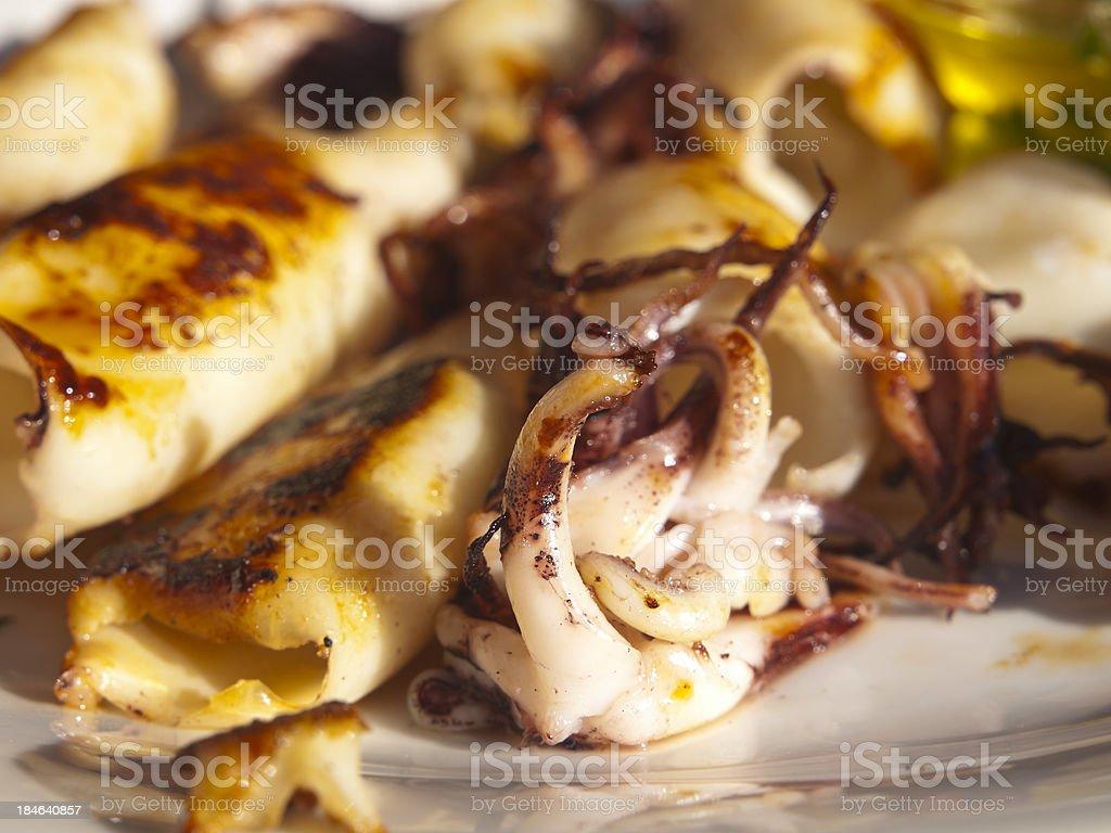 grilled calamari royalty-free stock photo