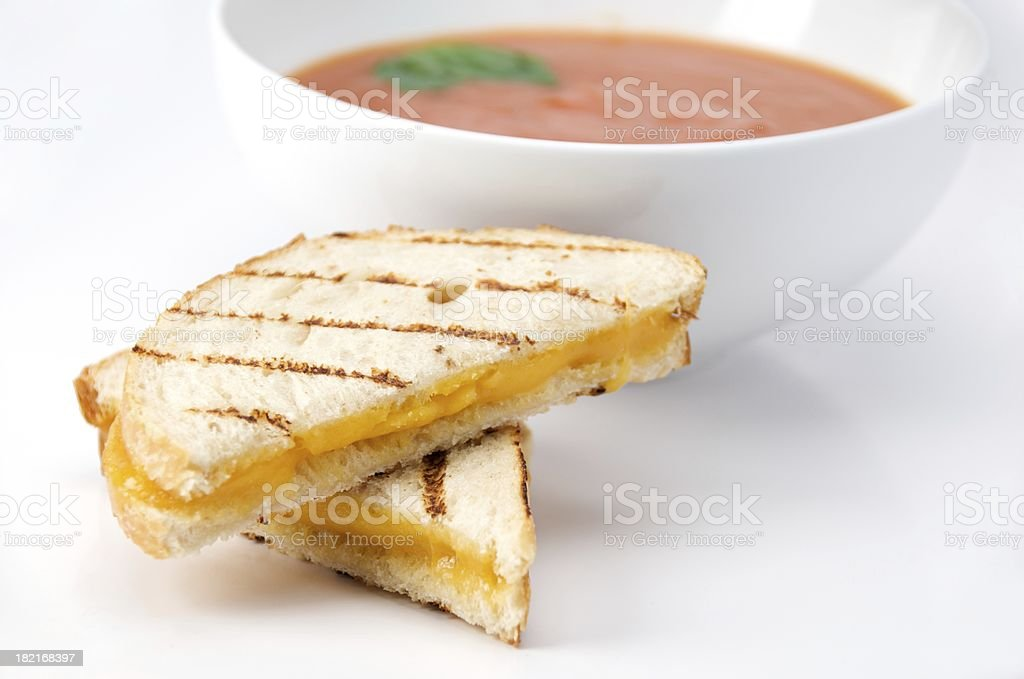 Grilled Cheese and Tomato Soup stock photo