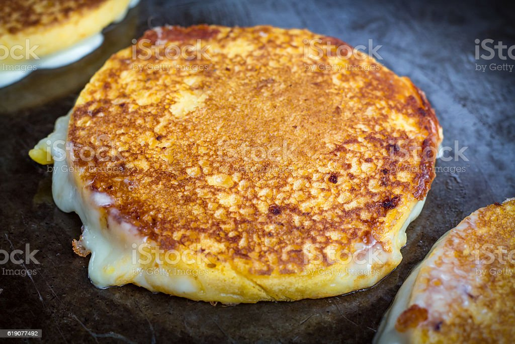 Grilled Cheese Arepas - foto de stock