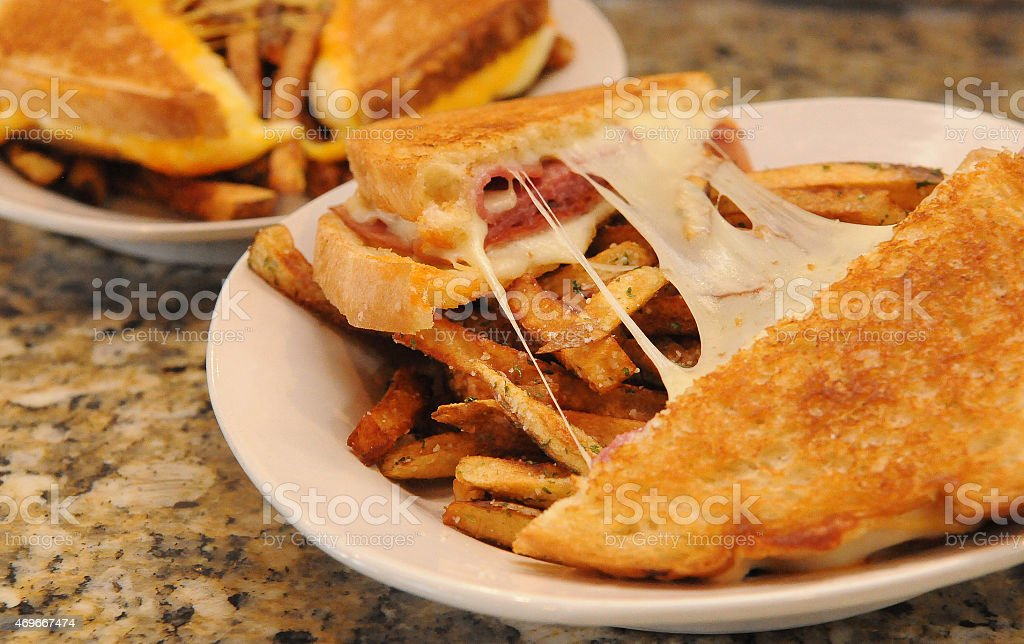 Grilled Cheese Combo Beginning stock photo