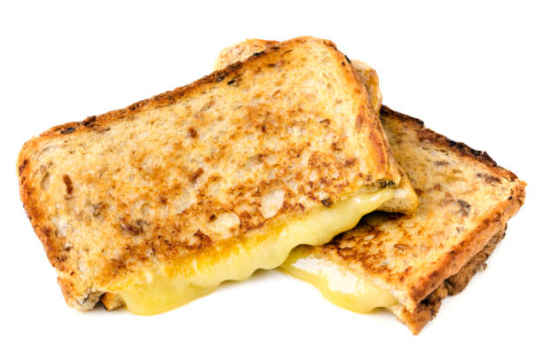 Grilled Cheese Sandwich Isolated stock photo